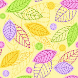 Seamless with leaves. Stock Image