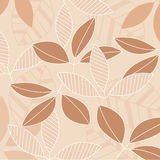 Seamless leaves background Royalty Free Stock Photography