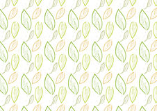 Seamless leaves background in green color theme. A hand drawn leaves seamless background in pencil and water color effect. Comes in green color theme Royalty Free Stock Photography