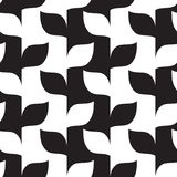 Seamless leaves in black and white pattern. Vector Stock Photography
