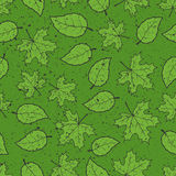 Seamless leaves grunge pattern Royalty Free Stock Image