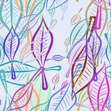 Seamless leaves illustrations background abstract, hand drawn. Art, cartoon, wallpaper & line. Seamless leaves illustrations background abstract, hand drawn Stock Photos