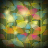 Seamless leaves pattern Stock Image