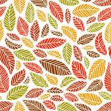 Seamless leaves pattern Stock Photography