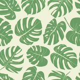 Seamless leaves pattern. Hand drawn illustration for fabric, wrapping, prints, cards, wedding design in vintage style. Seamless leaves pattern, colorful flowers Stock Photography