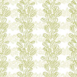 Seamless leaves pattern, floral wallpaper, hand drawn, vector. Royalty Free Stock Images