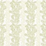 Seamless leaves pattern, floral wallpaper, hand drawn, vector. Royalty Free Stock Image