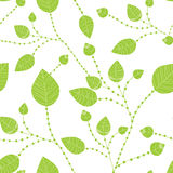 Seamless leaves pattern in green Royalty Free Stock Photos