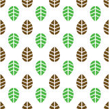 Seamless leaves pattern Stock Images