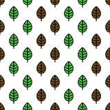 Seamless leaves pattern Royalty Free Stock Photography