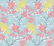 Seamless leaves pattern. stock illustration