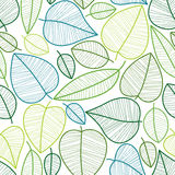 Seamless leaves pattern. Stock Image