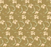 Seamless leaves and vines pattern Royalty Free Stock Photo
