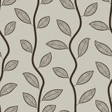 Seamless leaves wallpaper pattern. Stock Photos