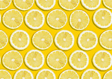 Seamless lemon background. Seamless background of fresh lemon slices Stock Image
