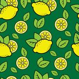 Seamless lemon background Stock Images