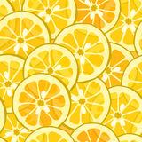 Seamless lemon orange background Royalty Free Stock Photos