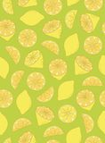 Seamless Lemon Pattern Royalty Free Stock Image