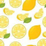 Seamless lemon pattern. Royalty Free Stock Photo