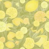 Lemon pattern Stock Photo