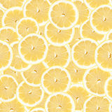 Seamless Lemon Slice Pattern Stock Photos