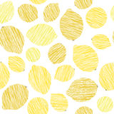 Seamless lemon texture. Endless citrus background. Harvest fruit pattern. Stock Photography