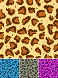 Seamless Leopard Or Cheetah Fur Background Royalty Free Stock Image