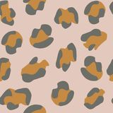 Seamless leopard pattern. Vector illustration. royalty free illustration