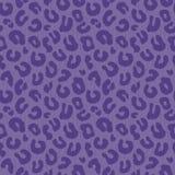 Seamless leopard print background pattern purple Stock Image