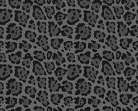 Seamless leopard print. Seamless gray background with leopard print royalty free illustration