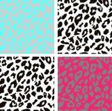 Seamless leopard print pattern. Leopard fur Stock Photo