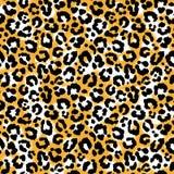 Seamless leopard wild pattern. Royalty Free Stock Photos
