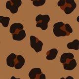 seamless leopardmodell royaltyfri illustrationer