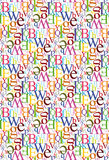 Seamless Letter Pattern. Multicolor texture - Vector Include layer with pattern design source vector illustration