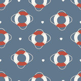 Seamless Life Preserve pattern Royalty Free Stock Images