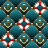 Seamless lifebuoy pattern Royalty Free Stock Image