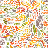 Seamless light background. Seamless light floral hand drawn pattern. Vector background Stock Images