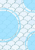 Seamless Light Blue and White Fluffy Cloud Pattern Royalty Free Stock Photos