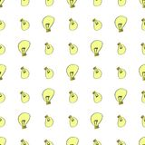 Seamless light bulb illustrations background abstract, hand drawn. Canvas, color, line & cartoon. Seamless light bulb illustrations background abstract, hand Vector Illustration