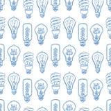 Seamless light bulbs Stock Photo