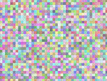 Seamless light colored squares Mosaic texture Royalty Free Stock Photography
