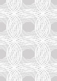 Seamless light contrasting background with uneven circle elements, white line patterns on light gray background,. Vector EPS 10 stock illustration