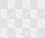 Seamless light contrasting geometric background with square and triangle elements, white line patterns on light gray background,. Vector EPS 10 stock illustration