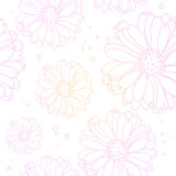 Seamless light flower background. Floral pattern. Royalty Free Stock Photo