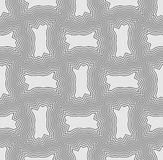 Seamless light gray background with outline patterns Royalty Free Stock Image