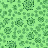 Seamless light green flower mandala for print on textile, fabric, coloring books and abstract backgrounds Stock Photography