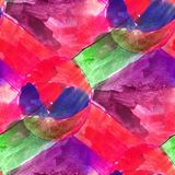 Seamless light green, purple, red watercolor artist wallpaper mo Stock Photos
