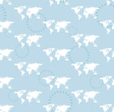 Seamless light pattern with maps - eps Stock Photography