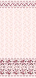 Seamless light pink pattern  with a wide  border Stock Photos