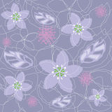 Seamless light purple floral pattern Stock Photo